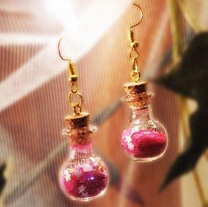 🧚♀️💫🌺 NEW Pink Fairy Dust Earrings